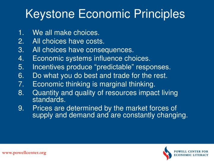 Keystone Economic Principles