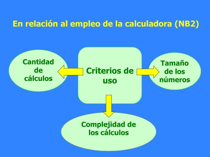Cantidad de cálculos
