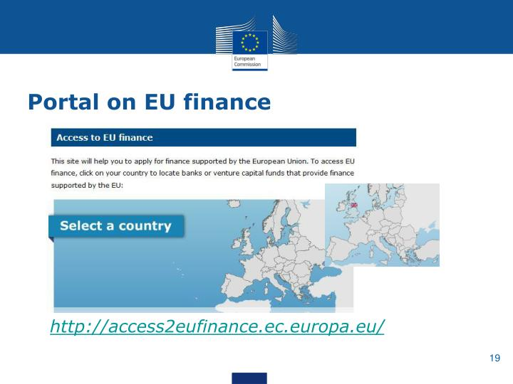 Portal on EU finance