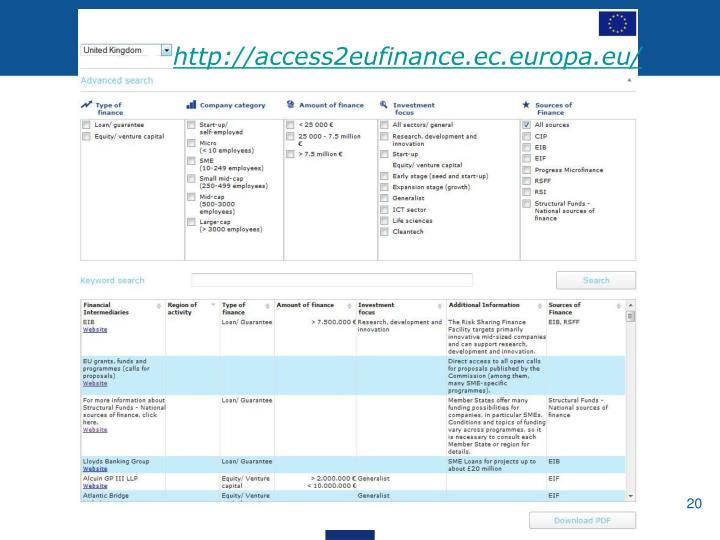 http://access2eufinance.ec.europa.eu/