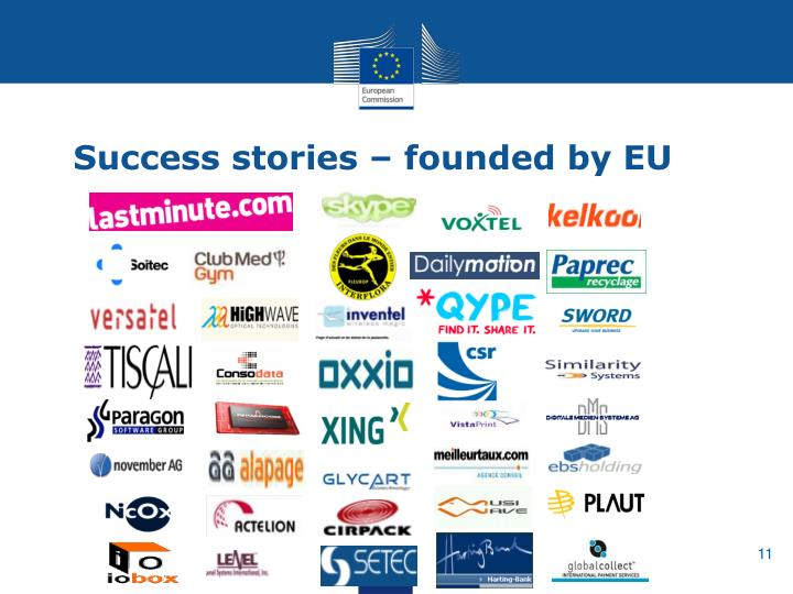 Success stories – founded by EU
