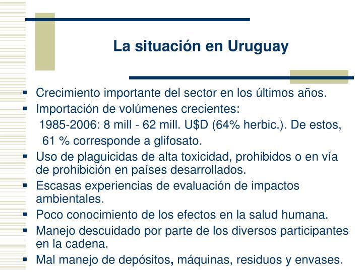 La situación en Uruguay