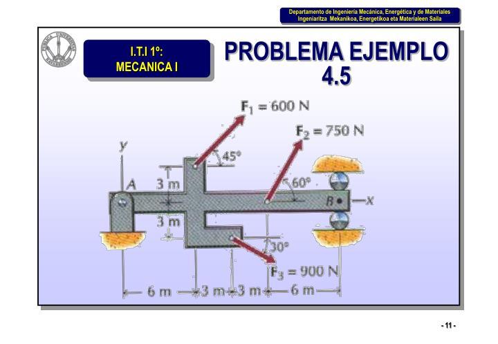 PROBLEMA EJEMPLO 4.5