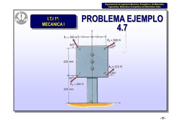 PROBLEMA EJEMPLO 4.7