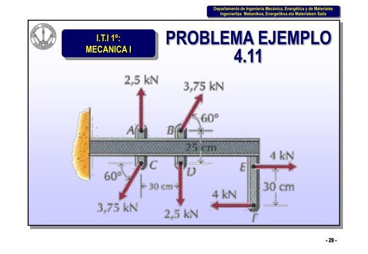 PROBLEMA EJEMPLO 4.11