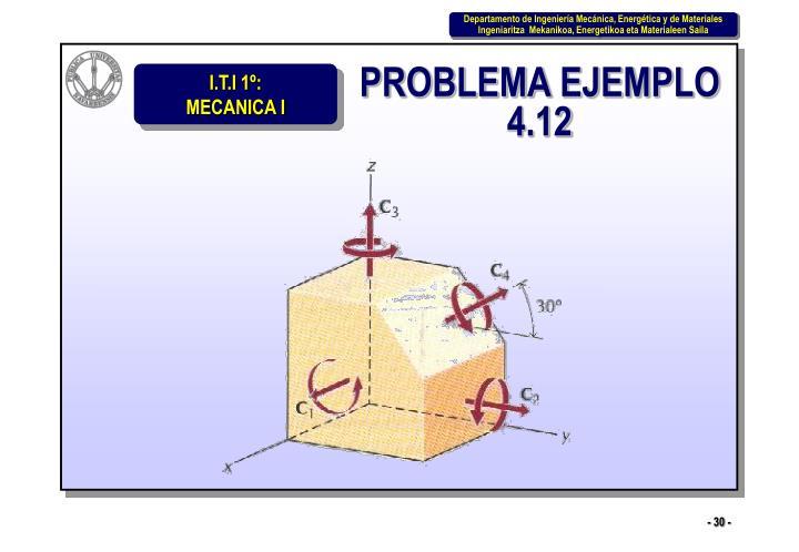 PROBLEMA EJEMPLO 4.12