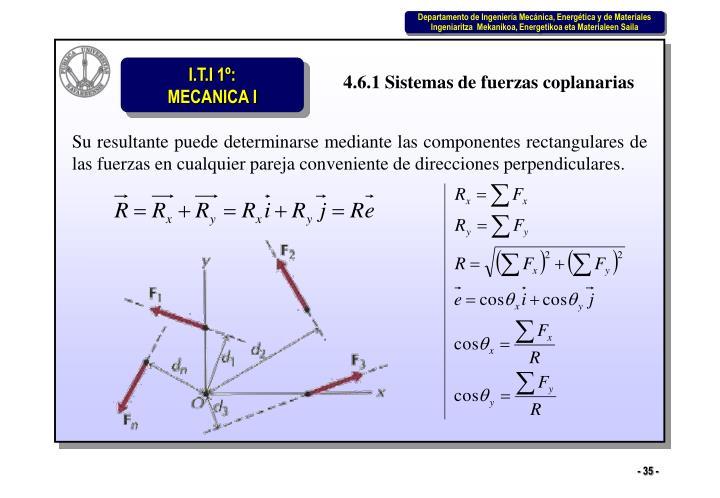 4.6.1 Sistemas de fuerzas coplanarias
