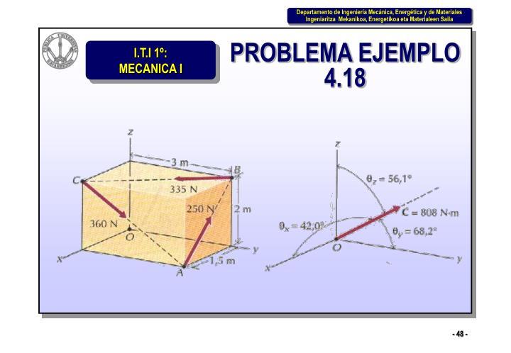 PROBLEMA EJEMPLO 4.18
