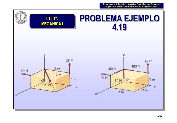 PROBLEMA EJEMPLO 4.19