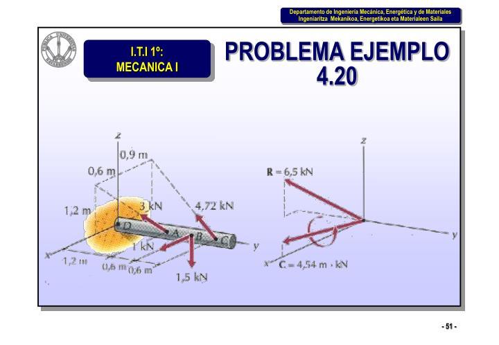 PROBLEMA EJEMPLO 4.20