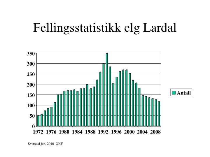 Fellingsstatistikk elg Lardal