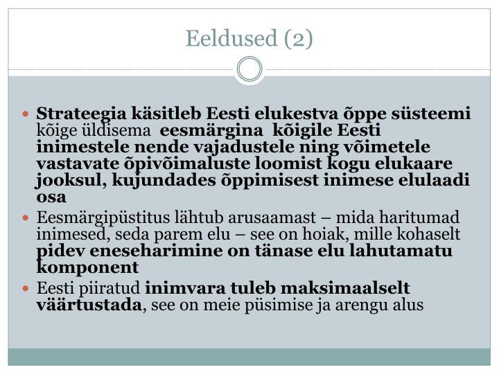 Eeldused (2)