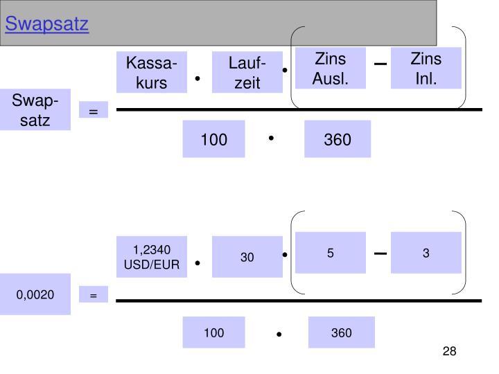 Swapsatz