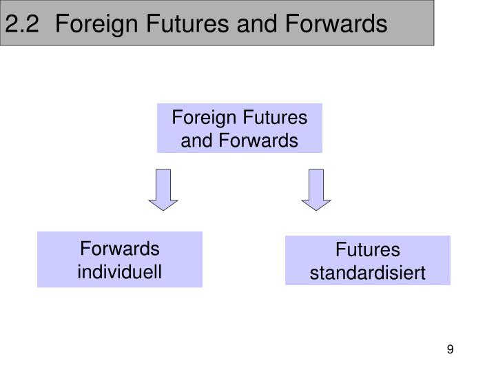 2.2	Foreign Futures and Forwards