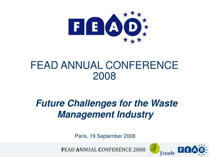 Fead annual conference 2008