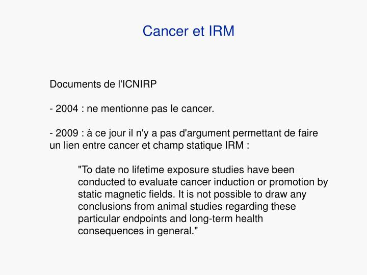 Cancer et IRM