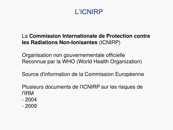 L'ICNIRP