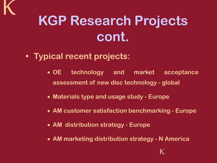 KGP Research Projects cont.
