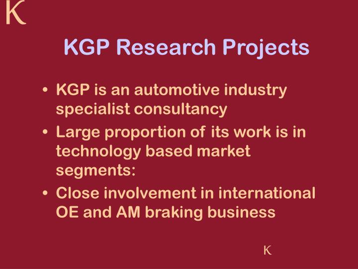 KGP Research Projects