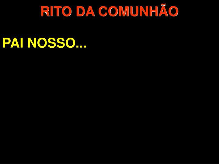 RITO DA COMUNHO