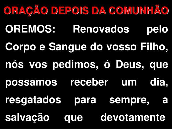 ORAO DEPOIS DA COMUNHO