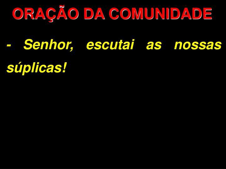 ORAO DA COMUNIDADE