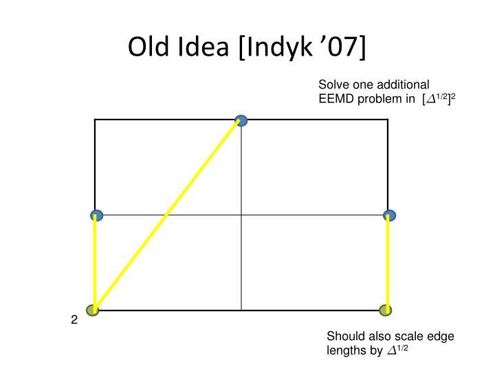 Old Idea [Indyk '07]