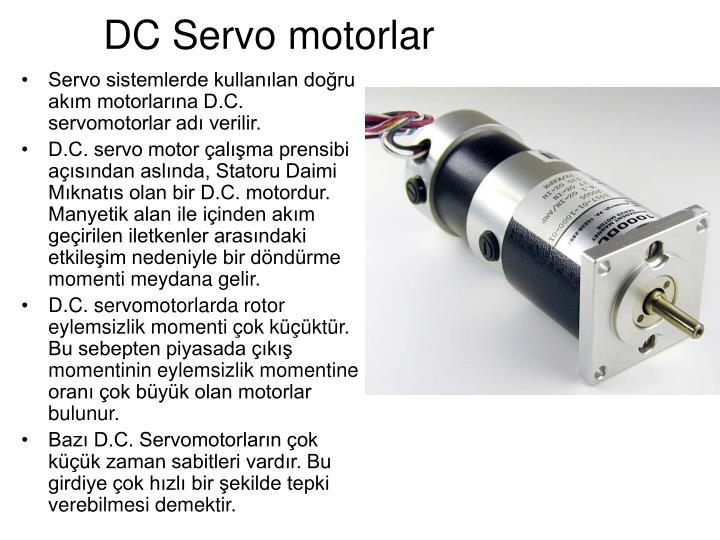 DC Servo motorlar