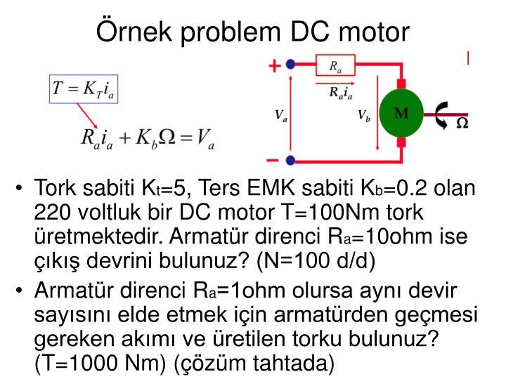 Örnek problem DC motor