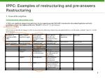ippc examples of restructuring and pre answers restructuring