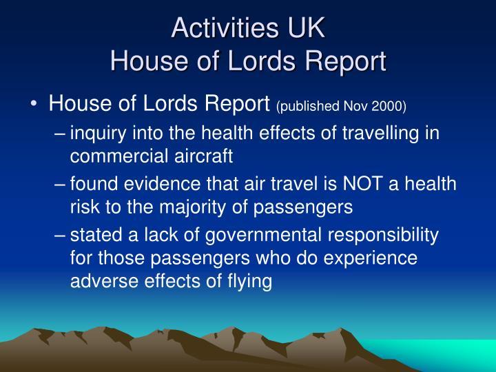 Activities UK