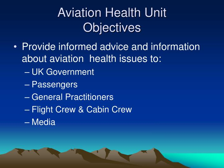 Aviation Health Unit