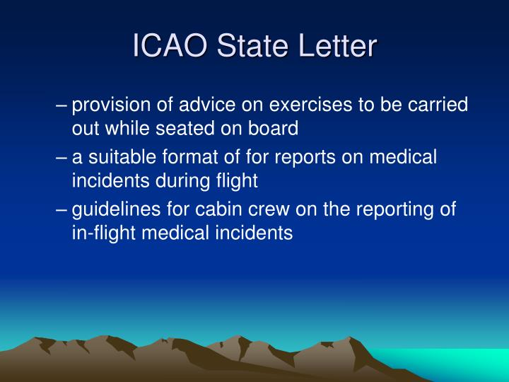 ICAO State Letter