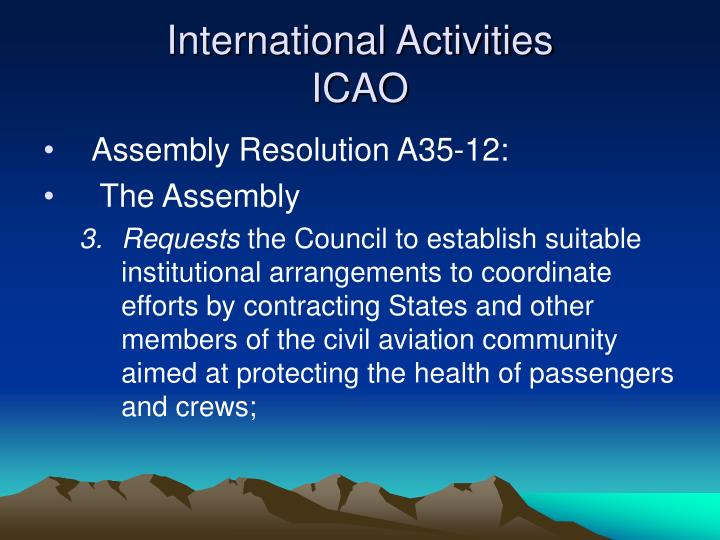 International activities icao1
