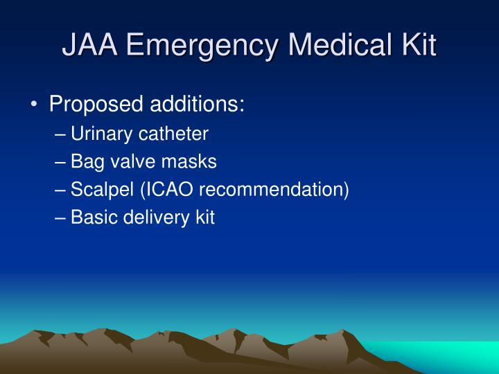 JAA Emergency Medical Kit