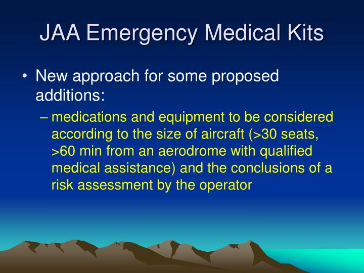 JAA Emergency Medical Kits