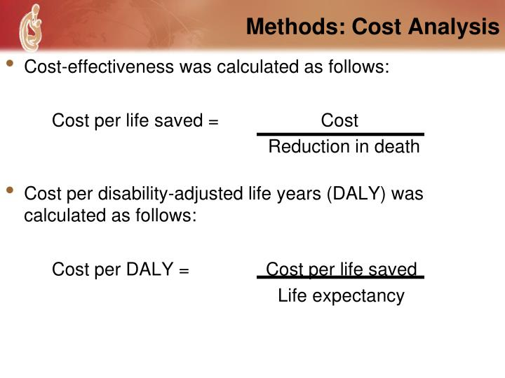 Methods: Cost Analysis