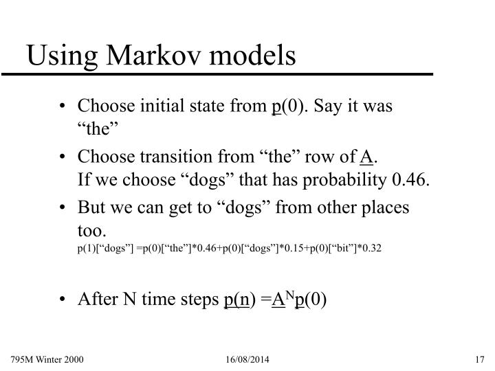 Using Markov models