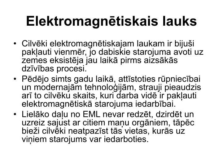 Elektromagnētiskais lauks