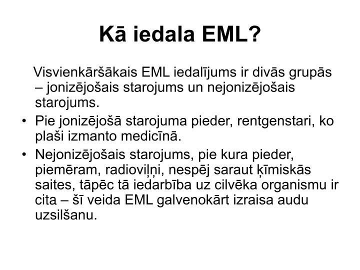 Kā iedala EML?