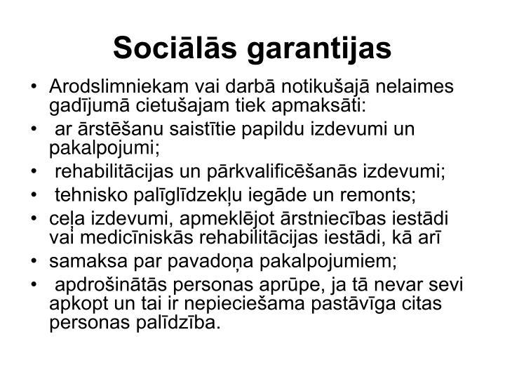Sociālās garantijas