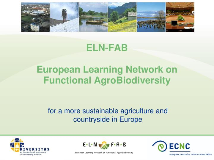 Eln fab european learning network on functional agrobiodiversity