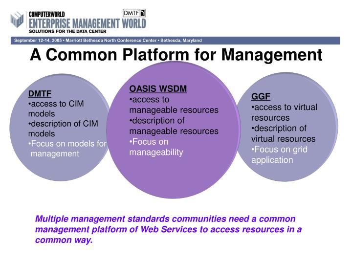 A Common Platform for Management