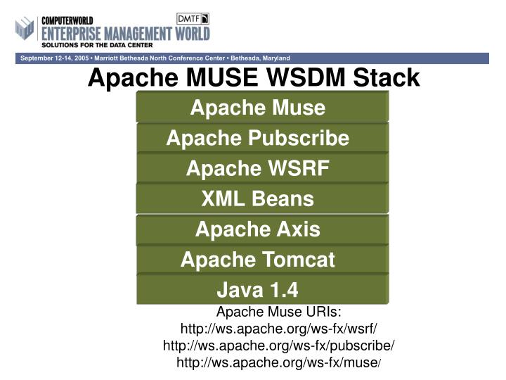 Apache MUSE WSDM Stack