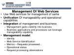 management of web services