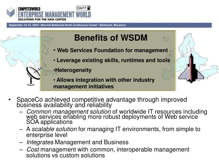 Benefits of WSDM