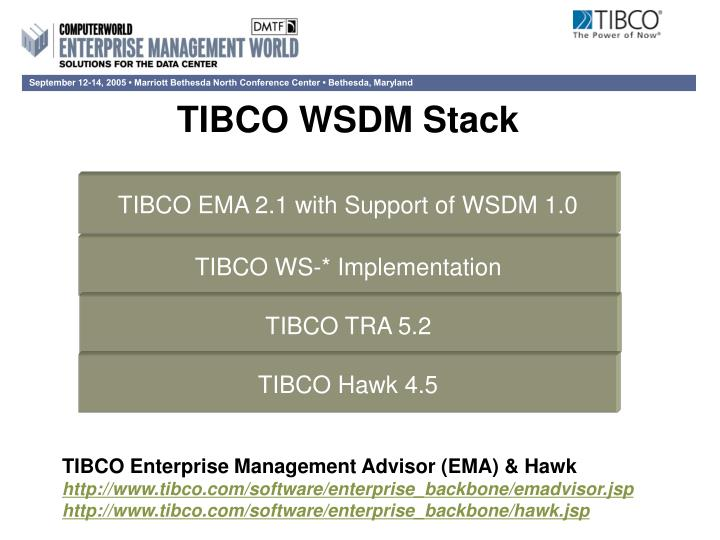 TIBCO EMA 2.1 with Support of WSDM 1.0