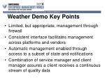 weather demo key points
