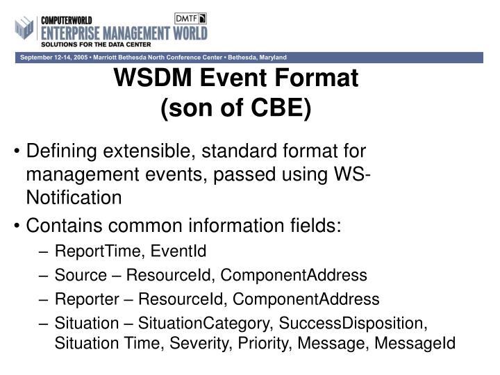 WSDM Event Format