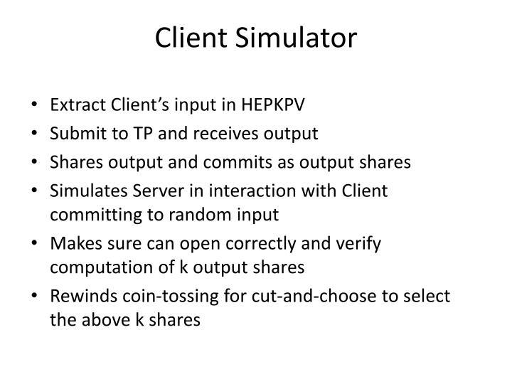 Client Simulator